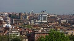 Skyline Rome from Park Villa Doria Pamphilj Stock Footage
