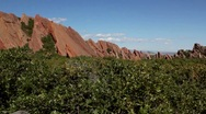 Stock Video Footage of Roxborough State Park-- Large Slanted Red Rocks