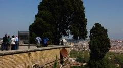 Skyline Rome Park Villa Doria Pamphilj Stock Footage