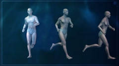 Computer X-raying the human body. Running. Stock Footage