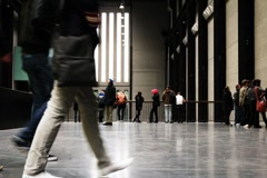 People in the hall.Timelapse. Stock Footage