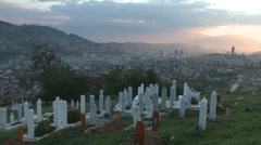 Graveyard. Sarajevo 21 Stock Footage