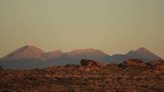Mountains at Sunset Stock Footage