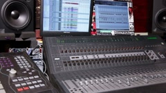 Home Recording Studio _03 Stock Footage