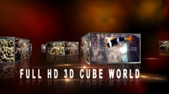 3D Cube World Stock After Effects