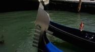 Italy Venice Venezia Veneto Gondola Stock Footage
