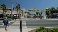 Pier Park entrance in Panama City Beach, Florida Stock Footage