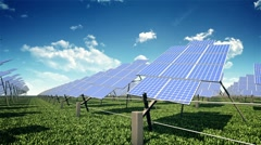 Solar farm - stock footage