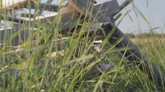 Stock Footage - Low angle on Gettysburg Battlefield - Fence, grass, battlefield Stock Footage