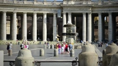 Saint Peter Square in Vatican Stock Footage