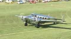 Beechcraft on airfield Stock Footage