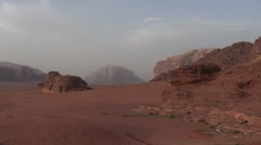 Wadi Rum desert: panorama Stock Footage