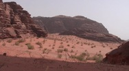 Stock Video Footage of Wadi Rum desert: panorama
