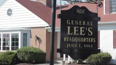 Stock Footage - General Lee's Headquarters - kids run by in the background Stock Footage