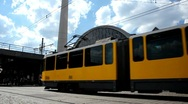 Tram berlin alexanderplatz Stock Footage