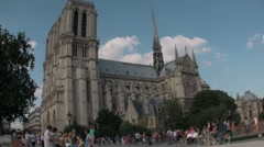 Notre Dame Cathedral, Paris, France - stock footage