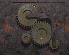 rusty gear - stock footage