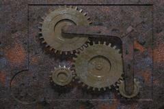 Rusty gear Stock Footage