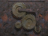 Stock Video Footage of rusty gear