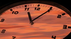 Clock in time-lapse loop - stock footage