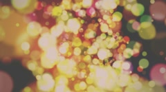 Defocus Abstract Background - Warm Rerto Colors Stock Footage