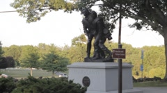 Stock Footage - Civil War Memorial - Statue at Gettysburg Cemetery Stock Footage