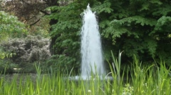 A fountain in a park - hd1080 - stock footage