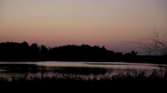 Stock Footage - Sunset over pond - Summer Stock Footage