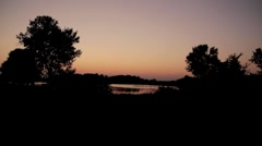 Stock Footage - Sunset over pond - Summer # 2 Wide Stock Footage