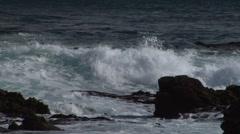 Waves coming towards camera - stock footage