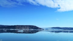 Ice Floes in Disko Bay, Greenland Stock Footage