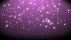 Rain stars christmas with background pink in high definition. Stock Footage