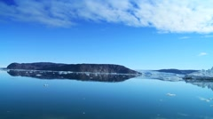 Ice Glaciers and Ice Floes Stock Footage