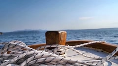 Boat at anchor Stock Footage