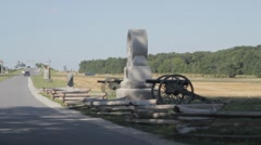 Stock Footage - Gettysburg entrance - Cannons, Memorials Stock Footage