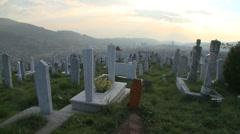 Stock Video Footage of Graveyard. Sarajevo 22