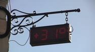 Digital street clock Stock Footage