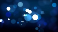 Blue defocused Particles HD_024 Stock Footage