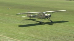 Fieseler Storch africa version on airfield Stock Footage