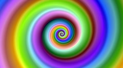 Bright colorful fractal spiral swirl loop. Stock Footage