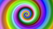 Stock Video Footage of Bright colorful fractal spiral swirl loop.