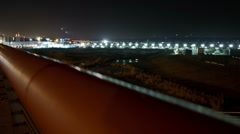 Airport time lapse Stock Footage