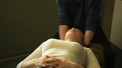 chiropractic adjustment - stock footage