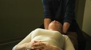 Chiropractic adjustment Stock Footage