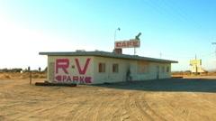 Little Roadside Cafe In The Desert 1 - stock footage