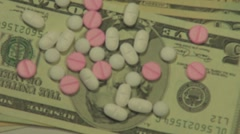 Pills and drugs Stock Footage