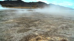 Steam From Underground Volcanic Springs Stock Footage