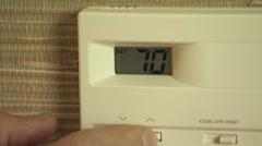 thermostat CU - stock footage