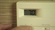 Stock Video Footage of thermostat CU