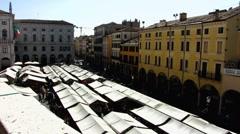 Veneto Padova Padua open-air market Stock Footage